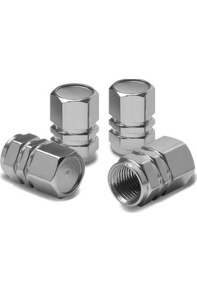 Cekasan Alüminyum Hexagon Gümüş Sibop Kapağı ( 4'lü Set )