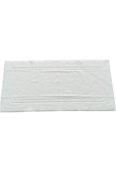 Neşe Home Collection Çerçeve 2 Çizgili Paspas Beyaz