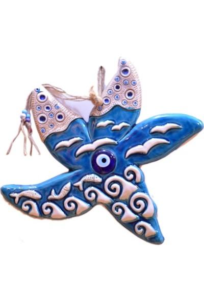 Fethiye Hediyelik Battal Boy Deniz Yıldızı Mavi Renk