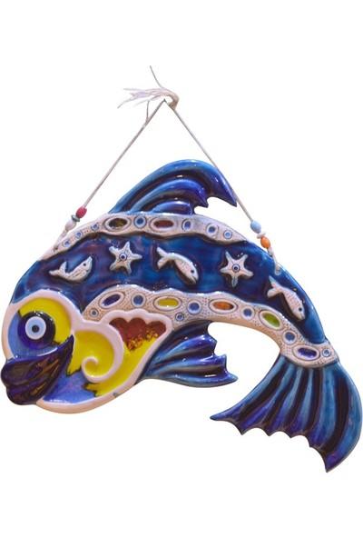 Fethiye Hediyelik Battal Boy Balık Mavi Renk