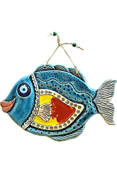 Fethiye Hediyelik Seramik Duvar Panosu Büyük Balık