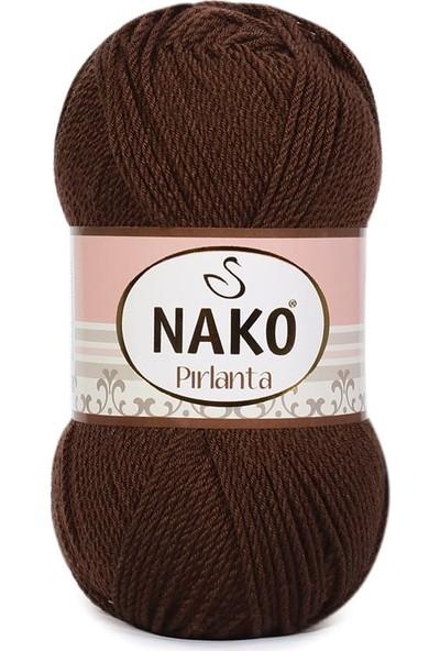 Nako Pırlanta Örgü İpi 3303 Kahverengi