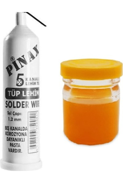 Pinax 5 Kanallı Lehim Teli 1,2 mm + Lehim Pastası 40 gr