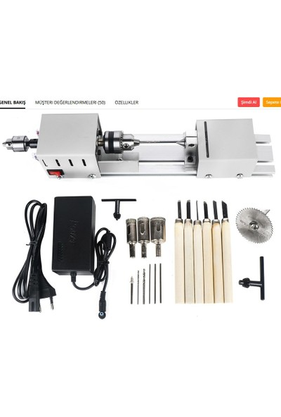 Oyunlarla Fen Mini Torna Makinesi 12 - 24 V Tesbih Torna Diy Hobi