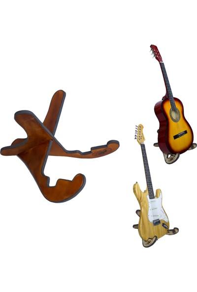Donizetti Ahşap Klasik Akustik Elektro Gitar Standı - Ceviz