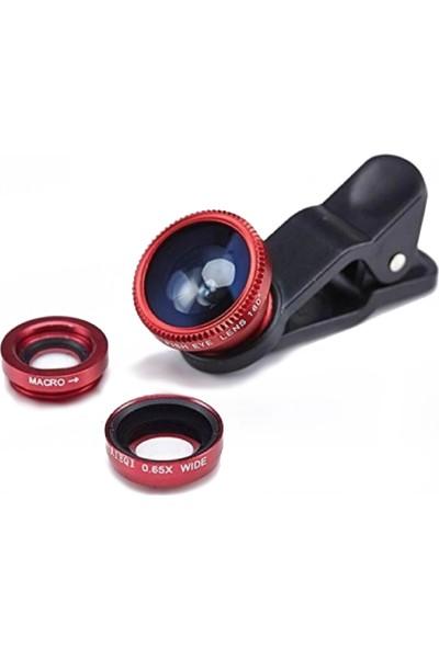 Piranha Cep Telefonu Uyumlu Lens Seti Macro / Geniş Açı / Balık Gözü