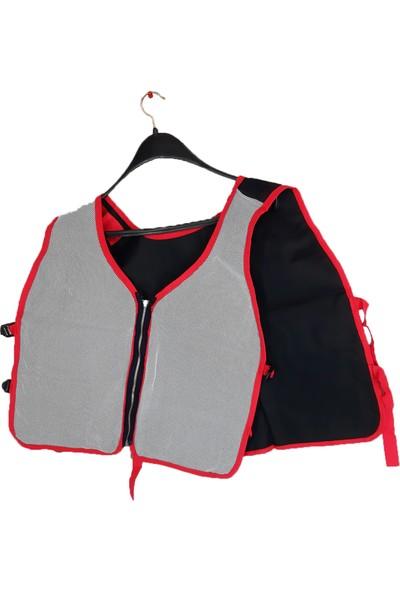 Simgeden İş Elbiseleri Elektrikçi Yeleği Siyah - Kırmızı