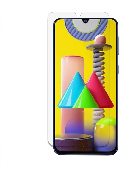 Case 4U Samsung Galaxy M31 Cam Ekran Koruyucu Nano Şeffaf