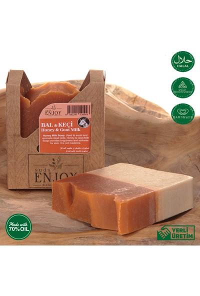 Suds Enjoy Doğal Bal & Keçi Sütlü El Yapımı Yüz, Saç ve Vücut Sabunu 100 gr