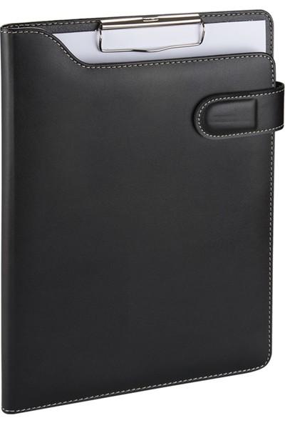 2K A4 Suni Deri Phone Kavis Model Sekreter Blok Tablası Hesap Makinalı 100 Yaprak Siyah