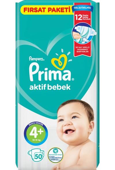 Prima Bebek Bezi Aktif Bebek 4+ Beden 50 Adet Fırsat Paketi