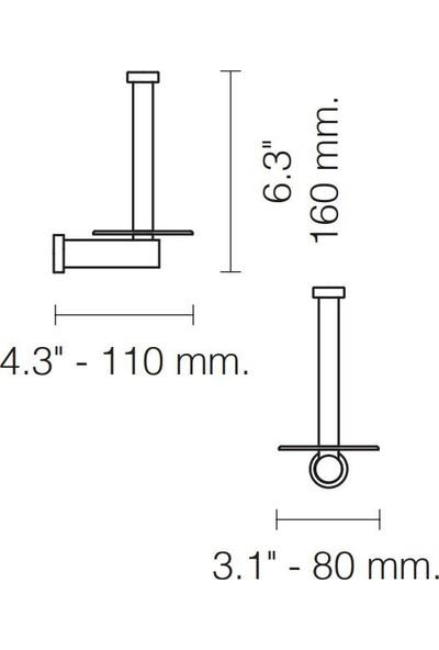 Windisch Tuvalet Kağıtlık Yedek Star Light Lisa Swarovski Kristal / Altın 85552-O