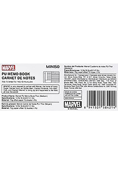 Miniso Marvel Pu Not Defteri Thor