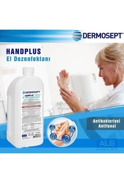 Dermosept %70 El ve Cilt Dezenfektanı 1 lt + Pompa + Dezenfektan Aparatı Krom Paslanmaz