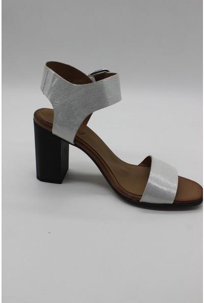 Lamartin Shoes Kadın Deri Comfort Topuklu Sandalet