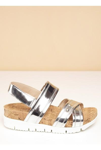 Pierre Cardin Kadın Sandalet Pc-2223-12175546 195-Gumus