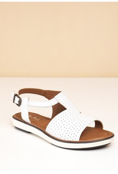 Pierre Cardin Kadın Sandalet Pc-2430-16645629 19-Beyaz