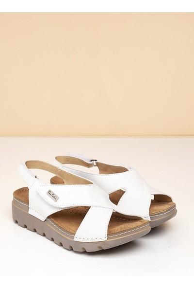 Pierre Cardin Kadın Sandalet Pc-1378-3630-16645629 19-Beyaz