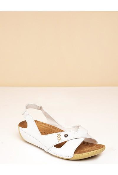 Pierre Cardin Kadın Sandalet Pc-1188-3009-16645629 19-Beyaz