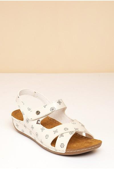 Pierre Cardin Kadın Sandalet Pc-6172-16779642 15-Bej-Kahve