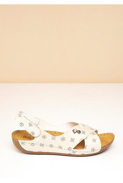 Pierre Cardin Kadın Sandalet Pc-6169-16779642 15-Bej-Kahve