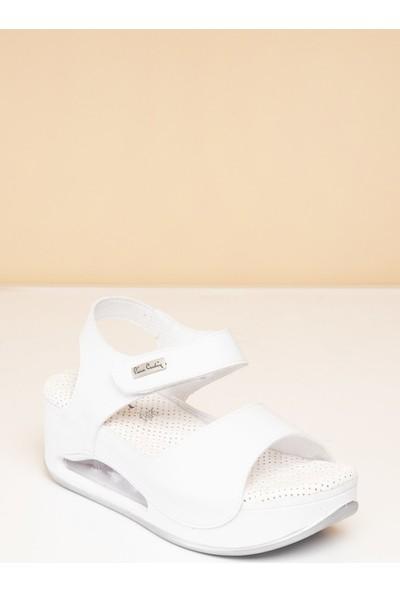 Pierre Cardin Kadın Sandalet Pc-1406-8401-16645629 19-Beyaz