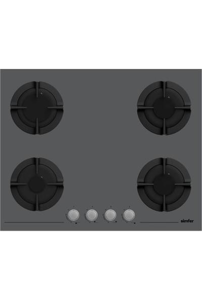 Simfer 80 lt XXL Silver Ankastre Set (7383 8 Fonksiyonlu ve Turbo Fanlı Fırın + 3652 Siilver Cam Ankastre Ocak + 8613 Touch Kontrol - LED Lambalı Davlumbaz)