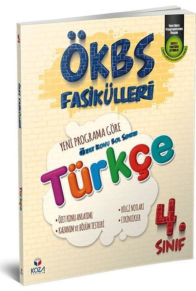 Koza Yayınları Ökbs (Özet Konu Bol Soru) Fasikülleri Türkçe 4.sınıf