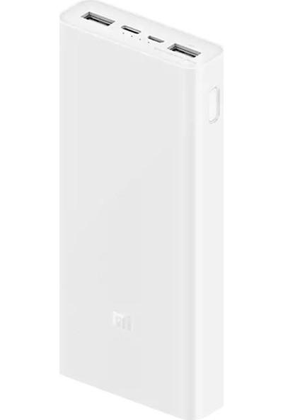 Xiaomi Mi Powerbank 3 20000mAh 18W Hızlı Şarj PLM18ZM Beyaz