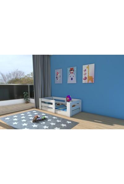 Etmermo Montessori Karyola Beyaz Eymo 1 Mini - 70 x 140 Yatak Uyumlu