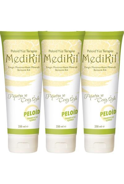 Medikil Peloid Yüz Terapisi / Papatya ve Ceviz Özlü Bentonit Kili x 3 Adet
