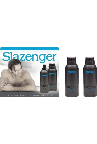 Slazenger Active Sport Mavi Edt+Deo Set+2 Deo 125 ml