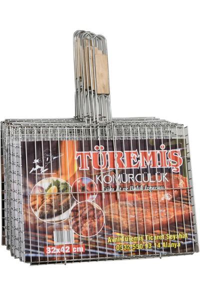 Türemiş Et ve Balık Izgarası Tahta Saplı 32X42 10'lu Paket