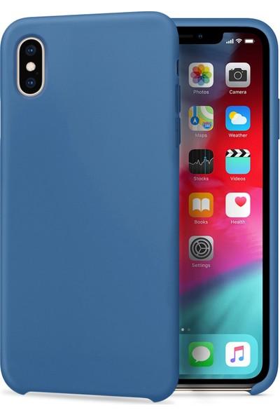 CaseUp Apple iPhone Xs Max Caseup Slim Liquid Silicone Lacivert