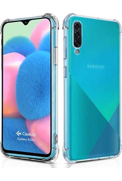 CaseUp Samsung Galaxy A30S Caseup Titan Crystal Şeffaf Kılıf