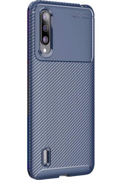 CaseUp Xiaomi Mi 9 Lite Fiber Design Lacivert