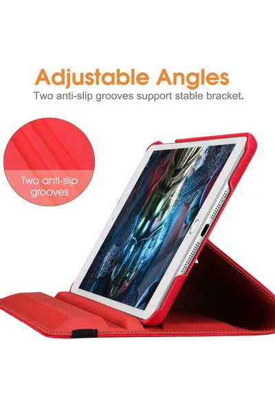 "CaseUp Apple iPad Mini 5 7.9"" 2019 360 Rotating Stand Kırmızı"