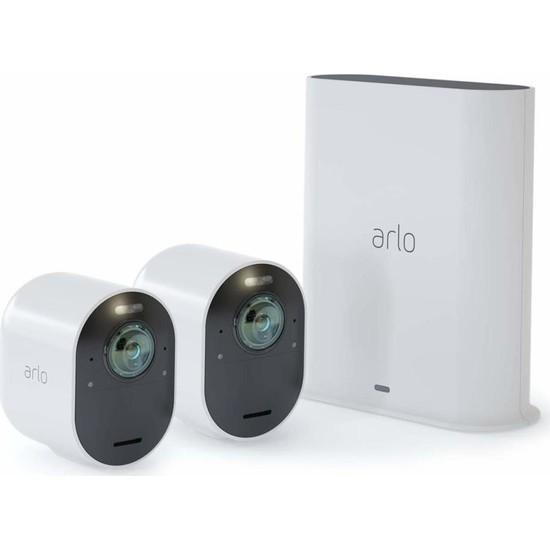 Arlo Ultra - 4K UHD Wire-Free Güvenlik 2 Kamera Sistemi (VMS5240)