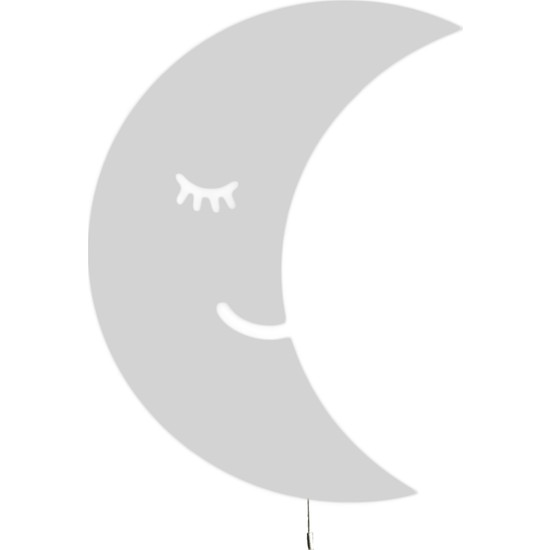 Tahtakurusu Tasarım Aydede Dekoratif Ahşap Lamba Beyaz