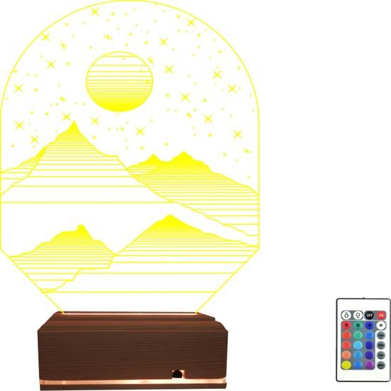 Algelsin 3D Manzaralı Modelli 3D LED Masa Lambası
