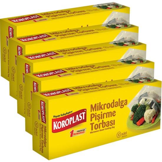 Koroplast Mikrodalga Pişirme Torbası 24X21,5 cm 10 Adet - 5'li