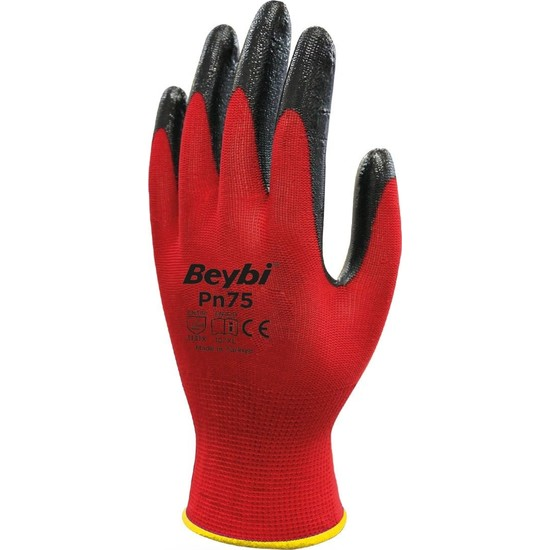 Beybi PN75 Nitril Eldiven Kırmızı No: 10 XL 3'lü