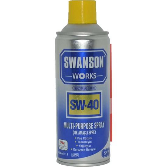 Swanson Works SW-40 Pas Sökücü Korozyon Önleyici Çok Amaçlı Sprey 400 ml