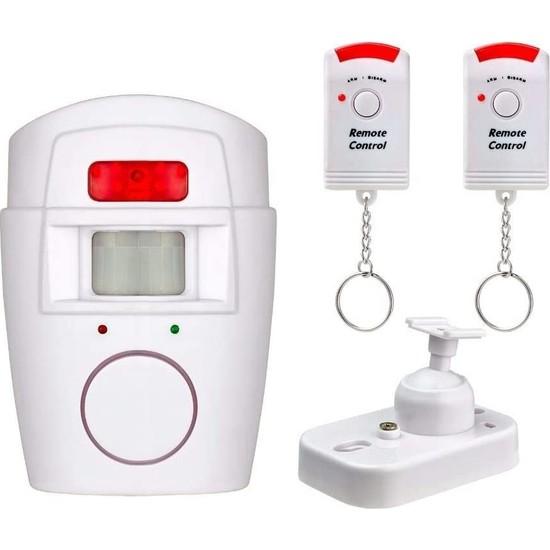 Hareket Sensörlü Alarm Seti (2 Adet Uzaktan Kumandalı)