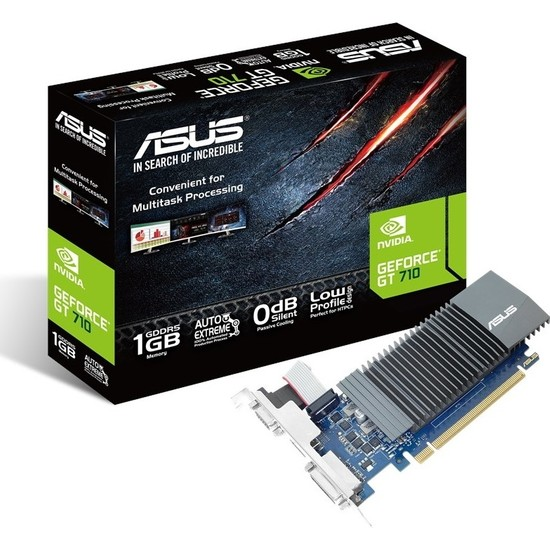 Asus Geforce GT710-SL-1GD5-BRK 1GB 32Bit DDR5(DX12) PCI-E 2.0 DDR5 Ekran Kartı (GT710-SL-1GD5-BRK)