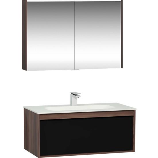 VitrA Metropole Lavabo Dolabı Ve Dolaplı Ayna Seti, 100 cm, Erik