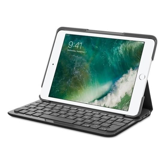 """Logitech 7.9"""" iPad Mini 3,2,1 Klavyeli Kılıf Canvas Black (Rusça ve Ingilizce Q) 920-007615"""