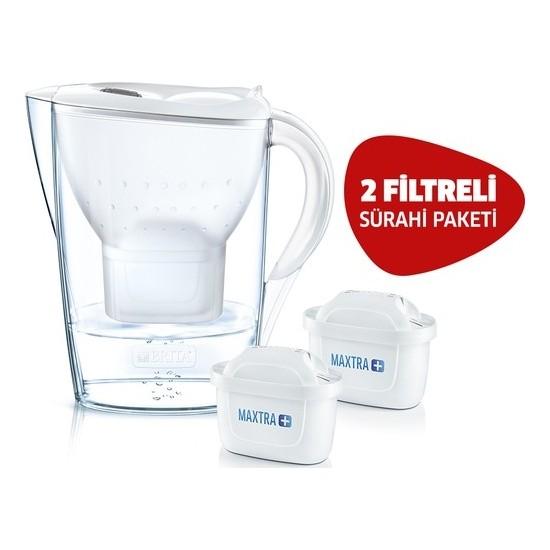 Brita Marella Cool Filtreli Su Arıtmalı Sürahi Beyaz – 2 Yedek Filtreli