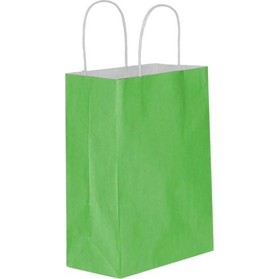 Eposet Yeşil Kağıt Hediye ve Alışveriş Çantası 45 x 12 x 50 cm 25'li