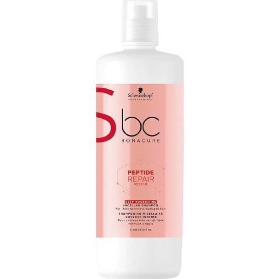Schwarzkopf Bonacure Peptide Acil Kurtarma Derin Besleme Şampuan 1000 ml